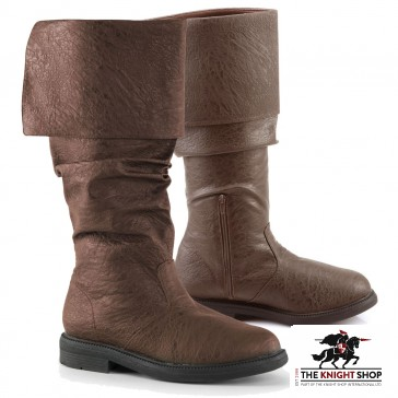 Robin Hood Medieval Boots - Brown