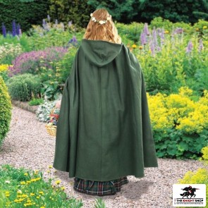 Green Crossover Hooded Cloak