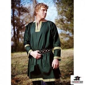 Viking Tunic with Trim - Green