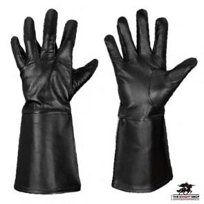 Leather Gauntlets/Gloves - Black