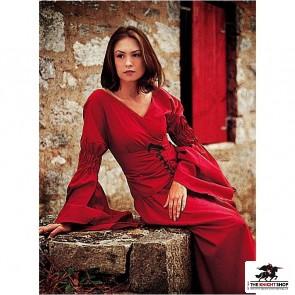 Pleasant Peasant Dress - Red