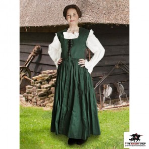 Country Maid Skirt with Bodice - Emerald