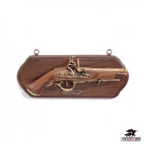 Display Plaque With Pistol - 18th Century