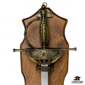 Spanish Cup Hilt Rapier with Display Plaque