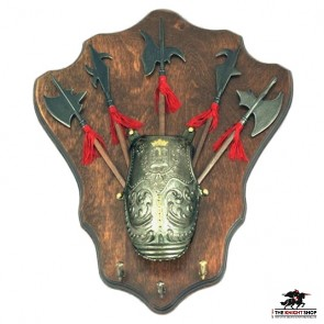 5 Halberds on Display Plaque (Key Hooks)
