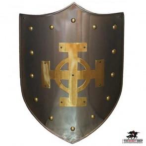 Brass Celtic Cross Shield
