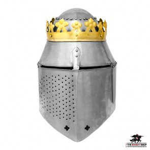 King's Great Helm with Crown