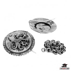 Order of the Stag Cloak Clasp - Antique Silver