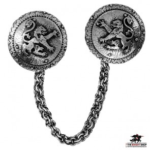 Order of the Lion Cloak Clasp - Antique Silver