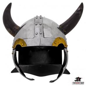 DAMAGED - Horned Viking Helmet