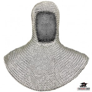 Chainmail Coif - Butted - Zinc Plated