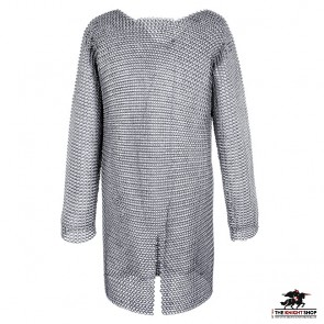 """Chainmail Hauberk - Butted - Zinc Plated - 50"""" Chest"""