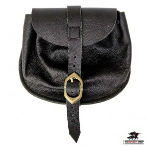 Medieval Leather Belt Pouch (Bag) - Small
