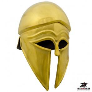 Greek Corinthian Helmet - Brass