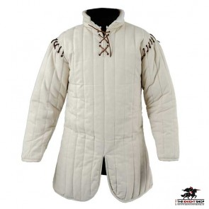 Laced Gambeson - Natural