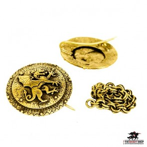 Order of the Dragon Cloak Clasp - Antique Brass