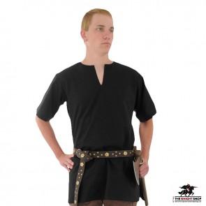 Half Sleeve Medieval Tunic - Black