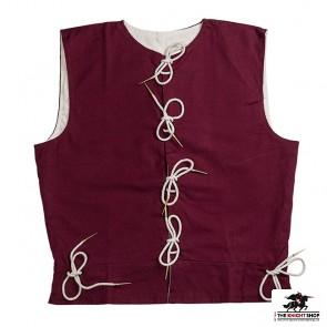 Men's Cotton Waistcoat - Maroon