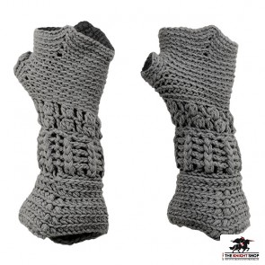Knitted Knight's Gauntlets - Adult Size