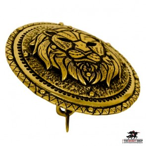 Order of the Lion Cloak Clasp - Antique Brass (Single)