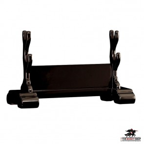 Double Sword Display Stand - Black Lacquer