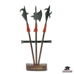 Miniature Halberds With Stand - Set of 3