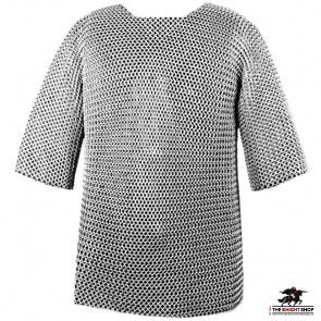 """Chainmail Haubergeon - Dome Riveted - 64"""" Chest"""