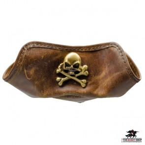 Skull and Crossbones Leather Tricorn