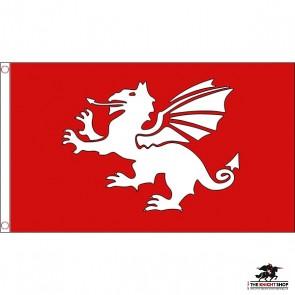 English White Dragon Flag
