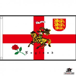 St George / Crusader Knight Table/Hand Flags x12