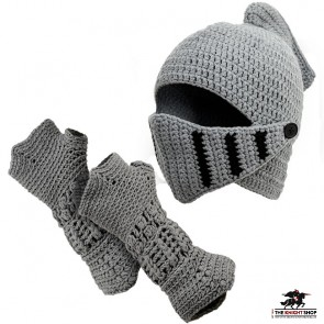 Kids Knitted Hat and Gauntlet Set