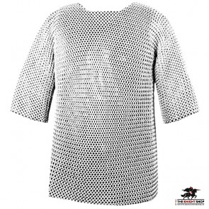 """Chainmail Haubergeon - Butted - Zinc Plated - 64"""" Chest"""