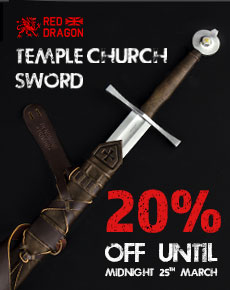 20% off the Red Dragon Combat Temple Church Sword