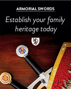 Buy family crest swords from the knight shop