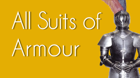 up to 20 percent off all display suits of armour at the Knight Shop